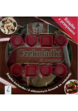 Czekoladki 21 przepisów Książka kucharska i 8 silikonowych foremek na czekoladki