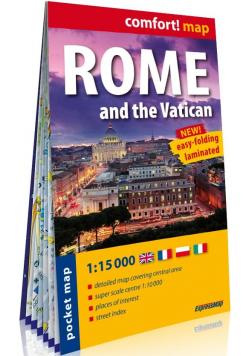 Comfort! map Rzym i Watykan 1:15 000 w.2020