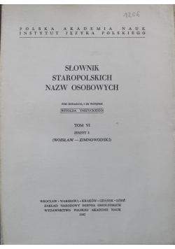 Słownik staropolski nazw osobowych Tom VI Zeszyt 2