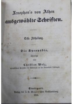 Xenophon s  von Athen ausgewahlte schriften 1856r. 2 tomy