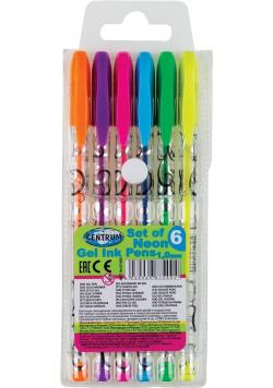 Zestaw długopisów żelowych Neon 6 kolorów 87400