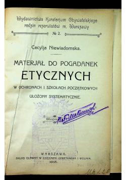 Materiał do pogadanek etycznych 1915r