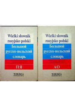 Wielki słownik polsko rosyjski 2 tomy