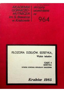 Filozofia Dziejów Estetyka Cz II