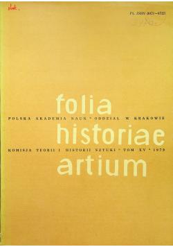 Folia historiae artium tom XV