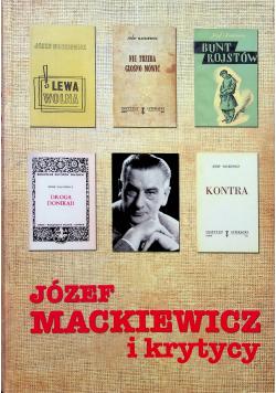 Józef Mackiewicz i krytycy plus dedykacja