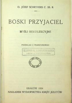 Boski przyjaciel myśli rekolekcyjne 1924 r