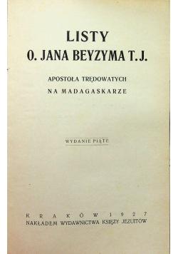 Listy O Jana Beyzyma T J 1927 r.