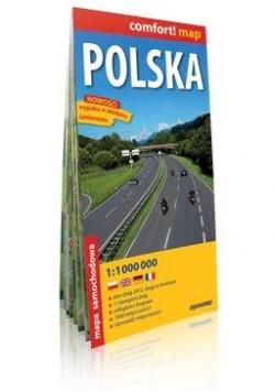 Comfort!map Polska 1:1 000 000 mapa w.2019