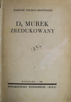 Dr Murek zredukowany 1936 r.