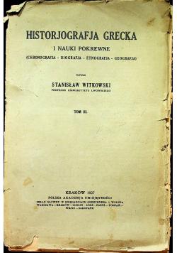 Historjografja Grecka i nauki pokrewne tom III 1927r