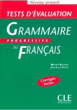 Tests d evaluation Grammaire Progressive du Francais