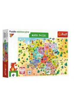 Puzzle Edukacyjne 54 Mapa Polski TREFL