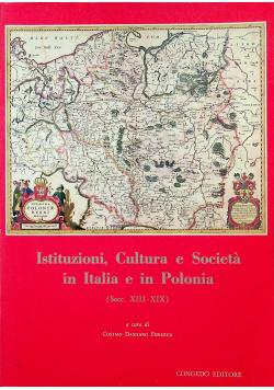 Istituzioni Cultura e Societa in Italia e in Polonia