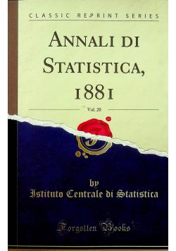Annali di Statistica Reprint z 1881 r.