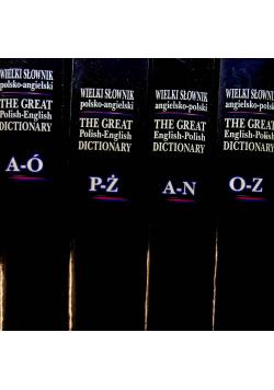 Wielki Słownik polsko angielski zestaw 4 książek