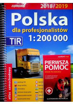 Polska dla profesjonalistów 2018 / 2019 Atlas samochodowy 1 200 000  Pierwsza pomoc
