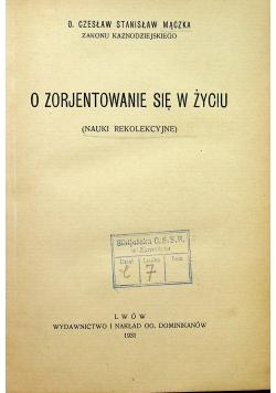 O zorjentowanie się w życiu 1931 r