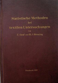 Statische Methoden bei textilen Untersuchungen