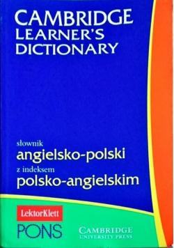 Cambridge Learners Dictionary Słownik angielsko polski z indeksem polsko angielski