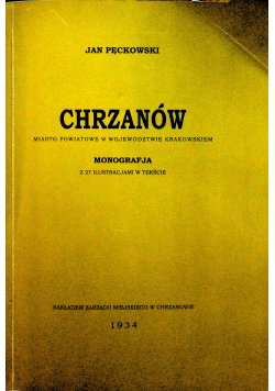 Chrzanów reprint z 1934r