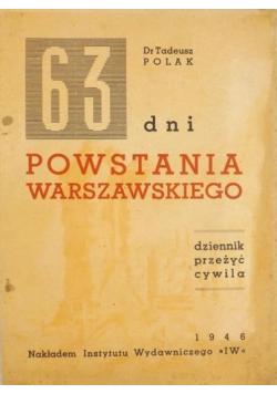 63 dni Powstania Warszawskiego 1946 r