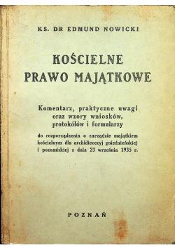 Kościelne prawo majątkowe 1936 r