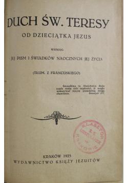 Duch Św Teresy od Dzieciątka Jezus 1925 r.