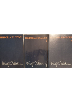 Historia filozofii Tom od I do III