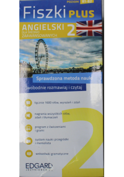 Angielski Fiszki PLUS dla średnio zaawansowanych 2 Poziom B1 B2