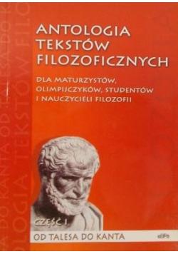 Antologia tekstów filozoficznych Część I