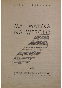 Matematyka na wesoło 1948 r.