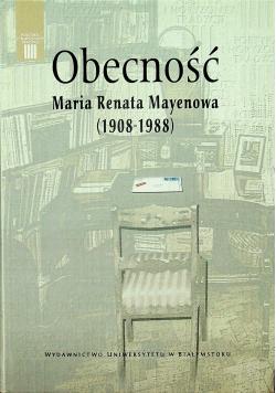 Obecność Maria Renata Mayenowa 1908 1988