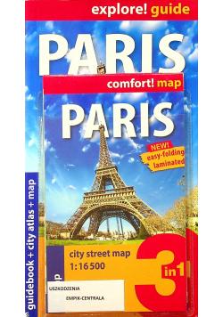 Paris Guidebook + city atlas + map