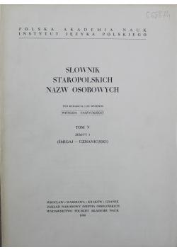 Słowniki staropolskich nazw osobowych tom 5 zeszyt 3