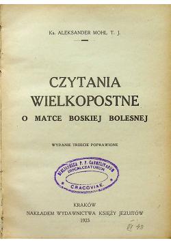 Czytania wielkopostne o Matce Boskiej Bolesnej 1923 r