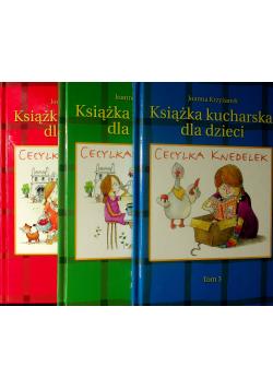 Książka kucharska dla dzieci 3 Tomy