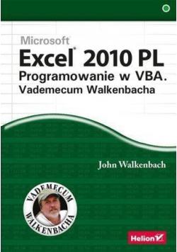 Excel 2010 PL Programowanie w VBA Vademecum