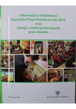 Report on the activity of the ombudsman for children for 2015