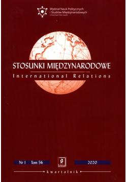Stosunki międzynarodowe 2020/1 t.56