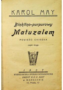 Błękitno purpurowy Matuzalem 1927 r.