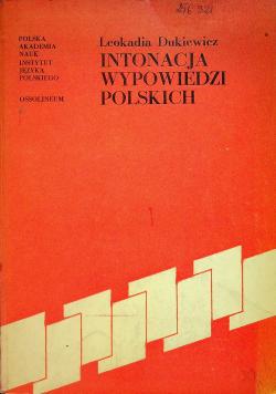 Intonacja wypowiedzi polskich