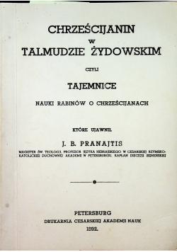 Chrześcijanin w Talmudzie Żydowskim reprint z 1892 r.
