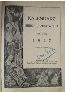 Kalendarz Serca Jezusowego na rok 1927 1926 r.