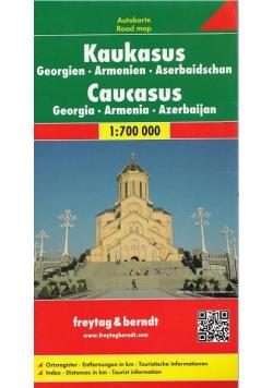 Mapa - Kaukaz, Gruzja, Armenia, Azerbejdżan