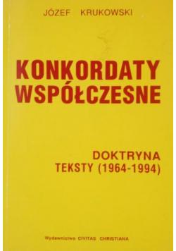 Konkordaty współczesne plus dedykacja Krukowskiego