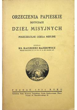 Orzeczenie papieskie dotyczące dzieł misyjnych 1931 r