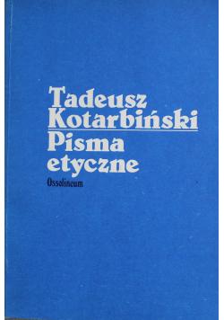 Kotarbiński Pisma etyczne