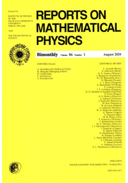 Reports on Mathematical Physics 86/1 Pergamon