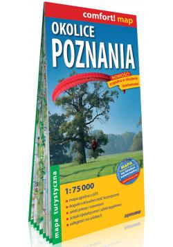 Okolice Poznania laminowana mapa turystyczna 1:75 000